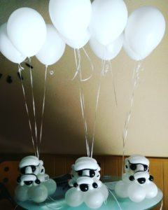 decoración temática star wars, decoraciones con globos, decorar fiestas con globos, fiesta star wars